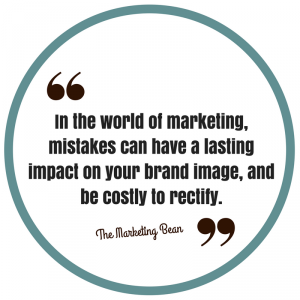 Blog on marketing mistakes